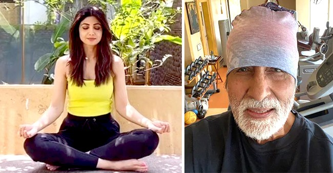 Stars like Big B, Shilpa, Katz & More Converted Their Homes Into Temporary Gyms During Lockdown
