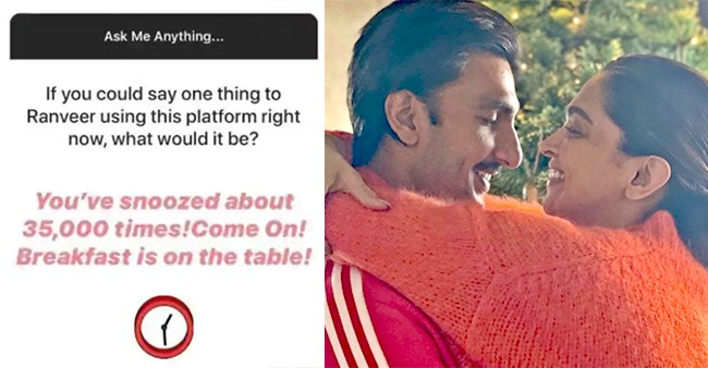Deepika Padukone Had A Special Message For Ranveer During 'AMA' Session & It's Hilarious