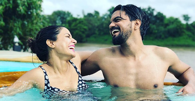 Hina's Love Rocky Shares Unseen Romantic Pic From One Of Their Vacations; Captions 'Love In The Deep'