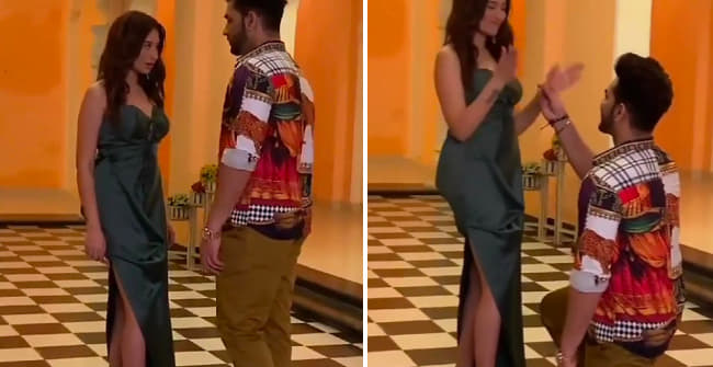 New Video Of Pahira Has The Handsome Hunk Going Down On His Knees To Propose His Ladylove