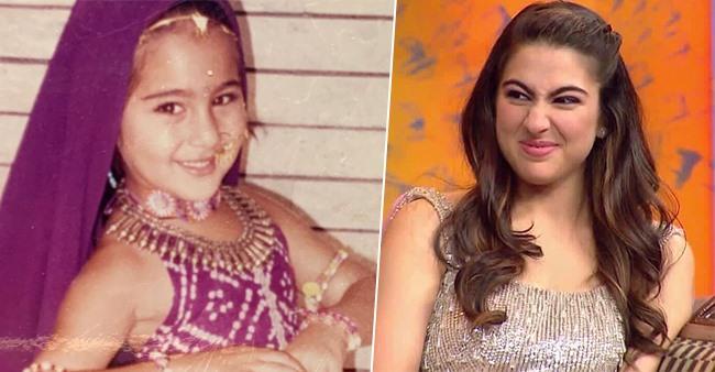 Sara Ali Khan Shares Adorable Throwback Pics As A Toddler; Captions 'Bangle Ke Peeche'
