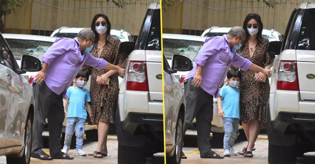 Bebo Steps Out Of Home With Taimur In New Normal Avatar, Have A Look