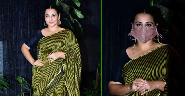 Vidya Balan Makes The Mask Her New Style Statement To Pose Happily For Paparazzi
