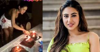 Sara Ali Khan celebrates her 25th birthday, shares a video while cutting cake with fans