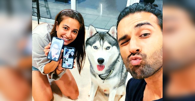 Pulkit Samrat and Kriti Kharbanda celebrate the birthday of their pet dog; the couple shares adorable pictures and videos