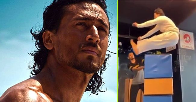 Tiger Shroff reaches new heights of fitness, does 5.7ft jump and shares the video with a witty caption
