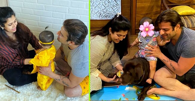 Karan Patel and Ankita Bhargava's little angel, Mehr, turns into adorable little 'Krishna' on Janmashtami