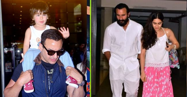 The times when Saif Ali Khan got clicked candidly with his kids, Sara, Ibrahim and Taimur