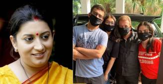 Smriti Irani requests followers to wear mask with a picture of family wearing mask