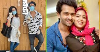 Shoaib Ibrahim, Dipika kakar and Saba Ibrahim step out for a cup of coffee