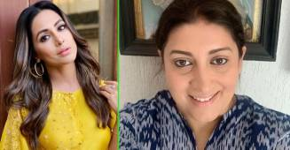 Hina Khan laughs hysterically as Smriti Irani shares a viral video of Kokilaben's dialogue turned into a rap song