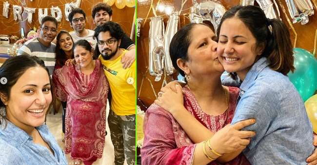 Hina Khan celebrated her mother's birthday along with beau Rocky