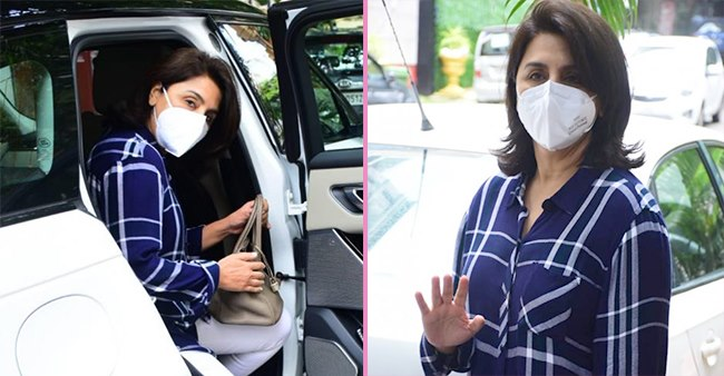Neetu Singh Clicked Outside A Clinic In Mumbai; Waved & Smiled At Paps