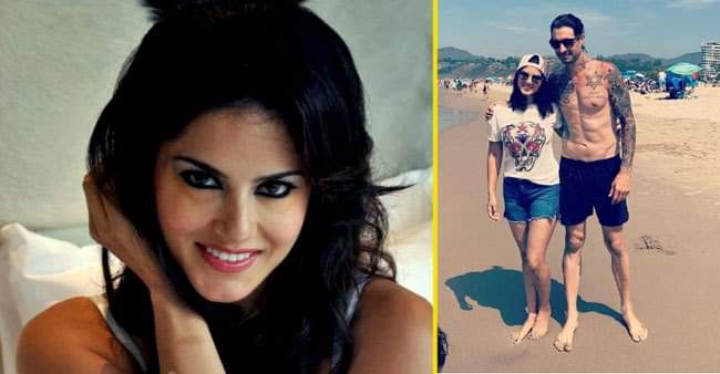 Sunny Leone and hubby Daniel Weber enjoy a beach day out, she shares a picture of the same