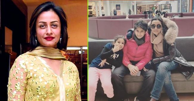 Namrata Shirodkar recalls a vacation with her family while sharing a picture of her kids