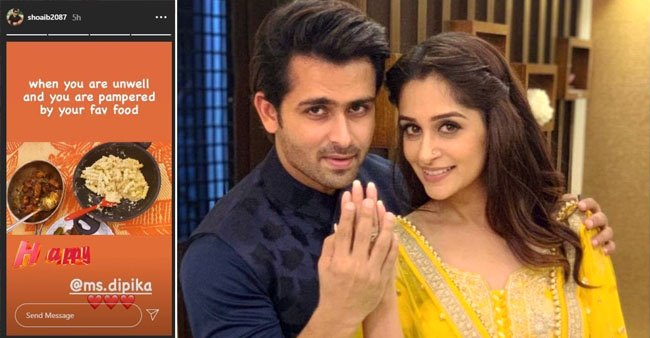 Shoaib Ibrahim feels unwell, so wifey Dipika showers love with his favourite food