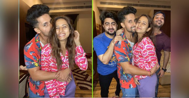 Ravi Dubey wishes wife Sargun Mehta with a heartfelt message and a peck on her cheeks