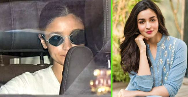 Alia Bhatt seen in an eye patch in latest photos from dubbing studio with 'Brahmastra' director Ayan Mukerji
