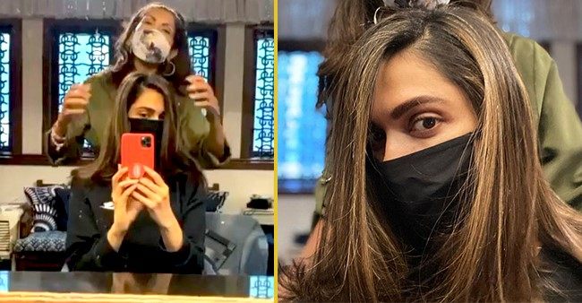Deepika Padukone shares her new look with fans while wearing a mask