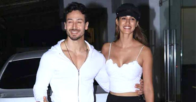 Tiger Shroff and Disha Patani snapped on a Sunday drive together