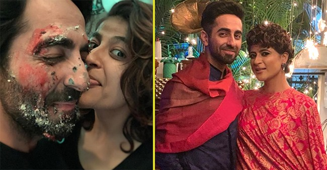 Tahira wishes her soulmate Ayushmann Khurrana with a cake smashed picture