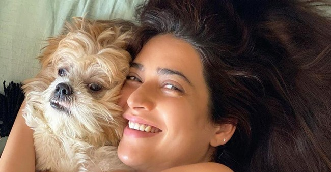 Karishma Tanna & her pet pooch Koko look adorable in the frame together