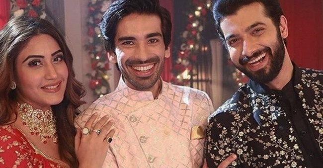 Mohit Sehgal shares his favourite picture with Surbhi & Sharad from Naagin 5 sets
