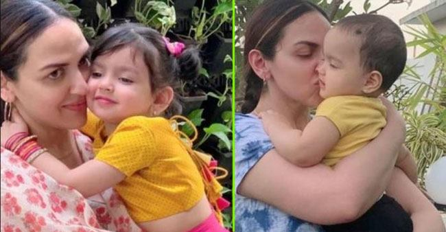 Mommy Esha Deol gives a sneak-peek into kids Radhya and Miraya's 'master art work'; Check out