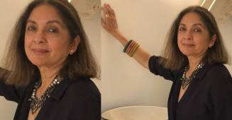 Neena Gupta shares a picture from her 'at home' photo session, looks all decked up