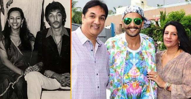 Ranveer Singh wished his parents on their 40th anniversary with a 'Then v/s Now' picture
