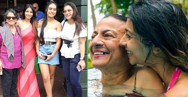 Candid pictures of veteran actress Tanuja Samarth Mukherjee that are too beautiful to be missed