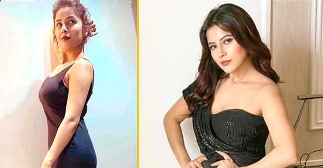Shehnaaz Gill flaunts her post weight loss body, shares a picture in a little black dress