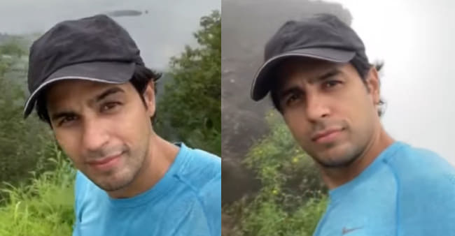Sidharth Malhotra takes a monsoon trek and shares some scenic pictures & videos