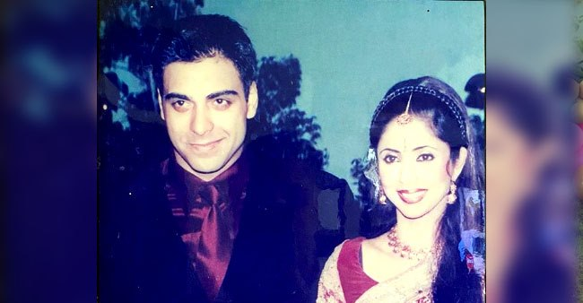 Actor Ram Kapoor looks dapper in this throwback picture with wife Gautami