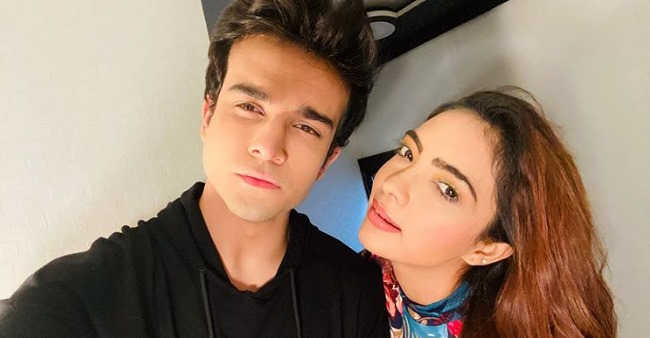 Kumkum Bhagya fame Pooja Banerjee poses for a perfect selfie with co-star Krishna Kaul; See pic