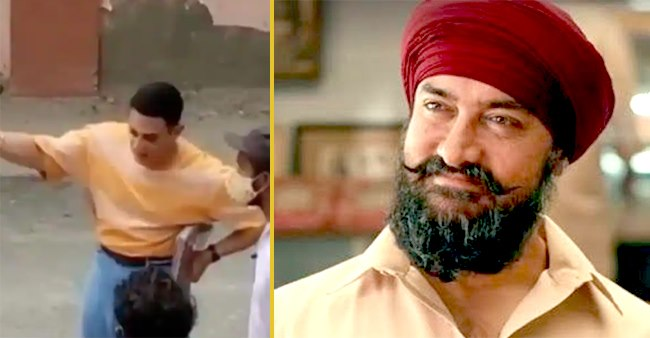 Aamir Khan looks young as a fan spotted him in Delhi for Laal Singh Chaddha movie, enjoy BTS video