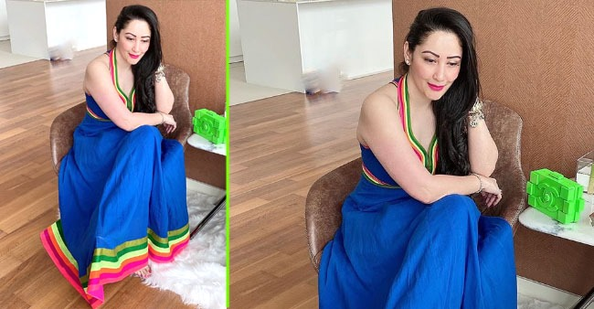 Maanayata looks beautiful in this candid pic clicked by hubby Sanjay Dutt; Check out