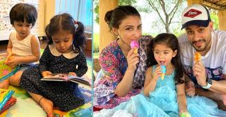 Bebo Shares Adorable Pic Of Inaaya & Taimur To Wish Soha's Baby Doll On Her 3rd Birthday