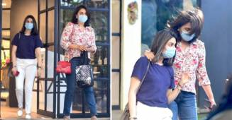 Neetu Kapoor and Riddhima Kapoor Sahni spotted in the city as they exited a store