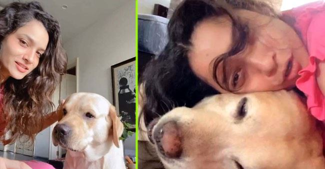 Ankita Lokhande can't stop gushing as she gets morning cuddles from her pet dog Scotch; See pics