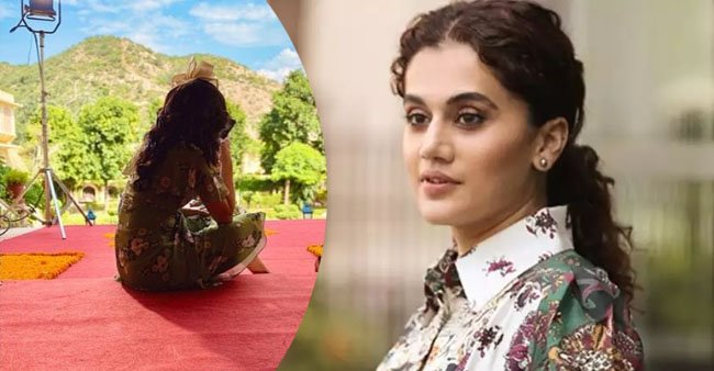 Taapsee Pannu finishes her pending project, shares a beautiful picture from a hilly area