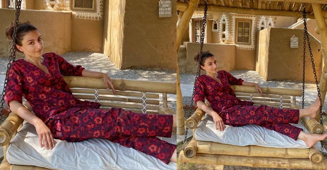 Soha Ali Khan's 'Holiday Mode Is On' and she is chilling on this vacation