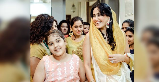 Kamya Punjabi wishes daughter Aara with a throwback picture from her Haldi ceremony