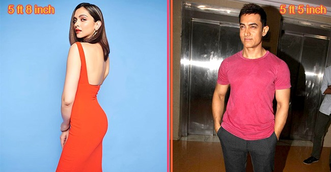 Deepika Padukone to Aamir Khan: Our favorite Bollywood stars and their heights