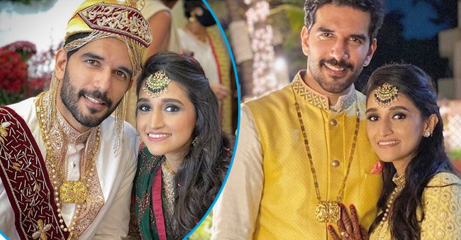 Taher Shabbir and Akshita Gandhi take their vows, the pictures left everyone in awe