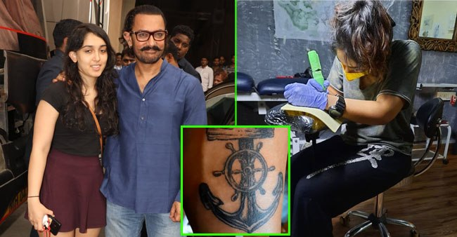 Aamir Khan's daughter Ira turns into a tattoo artist, flaunts a design made by her; See pic