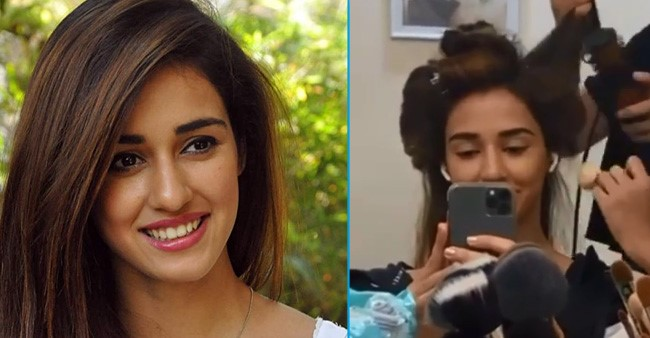 Actress Disha Patani gives her fans a glimpse from the sets of 'Radhe: Your Most Wanted Bhai'