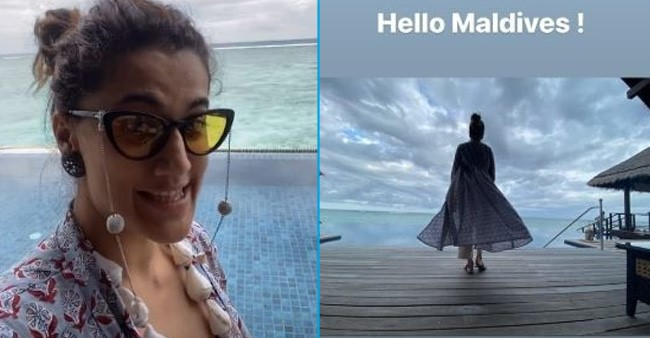 Taapsee Pannu flies to Maldives with sister for a much needed getaway