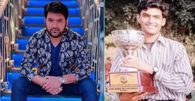 Throwback pic of Kapil Sharma lifting a trophy during his college days is unmissable; Check out