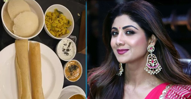 Shilpa Shetty enjoys South Indian platter while filming for her upcoming movie Hungama 2